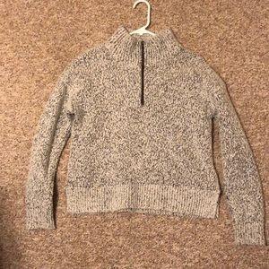 madewell wool quarter zip